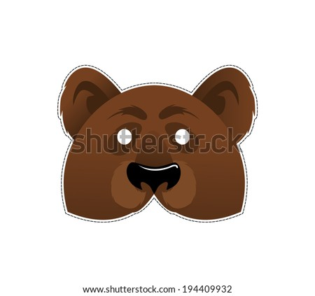 Be a bear at a party  - stock vector