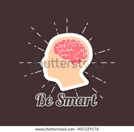 Be smart poster. Human brain.