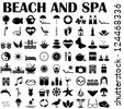 beach and spa - stock vector