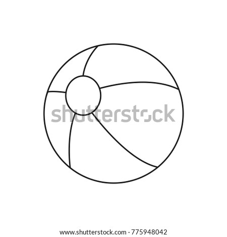 Beach Ball Drawing Toy Ball Coloring Stock Vector 775948042