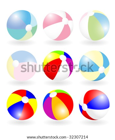 Beach ball vector set - stock vector