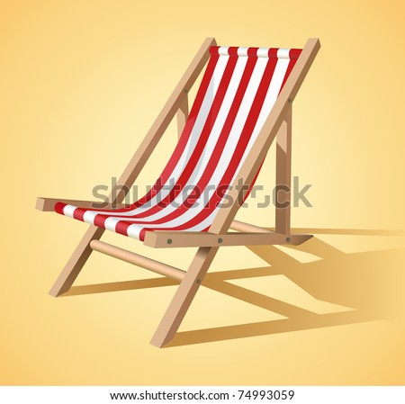 Beach chair vector - stock vector