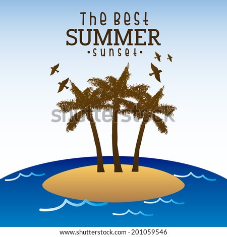 beach design over background vector illustration