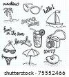 Beach Doodles - stock