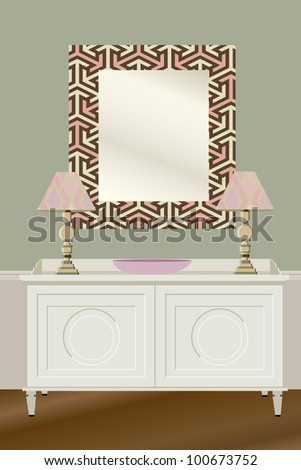 beach house - stock vector