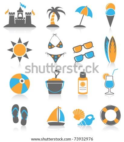 Beach icon. - stock vector