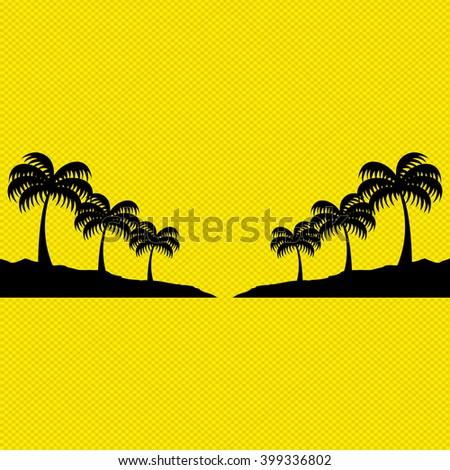 beach icon design  - stock vector