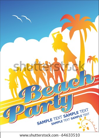 Beach Party. Editable Vector Format