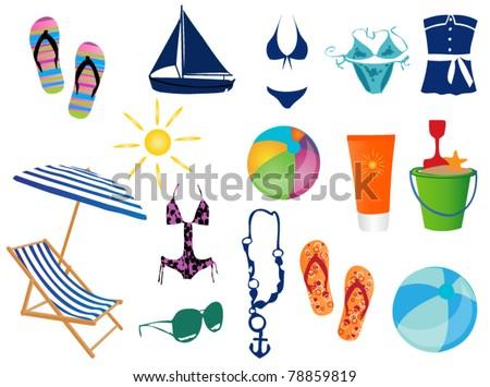 Beach time - stock vector