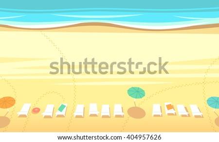 Beach. Top view. Vector illustration.  - stock vector