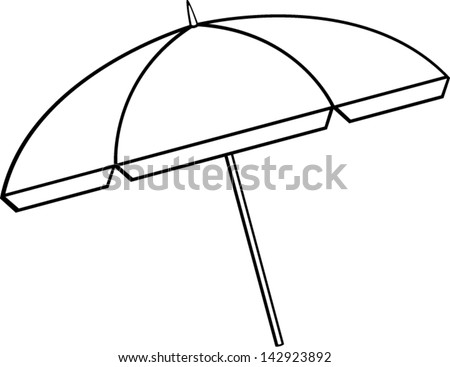 Beach chair and parasol vector illustration stock vector image - Stock Images Similar To Id 63059140 Vector Beach Umbrella