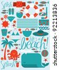beach vector vector/illustration - stock vector