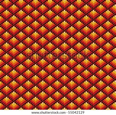 Beadwork background in earth tones. - stock vector