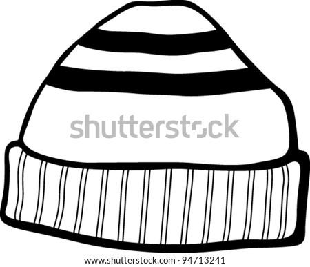 beanie hat - stock vector