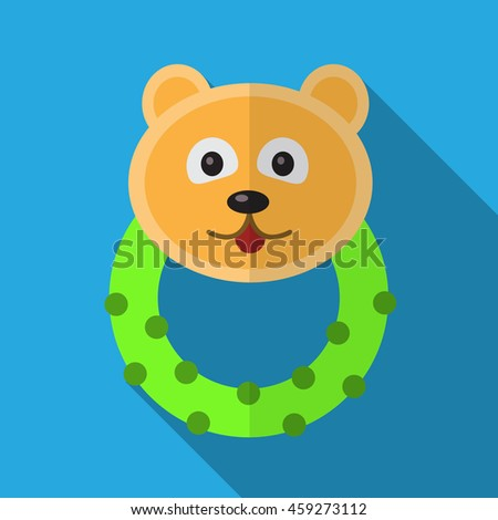 Bear beanbag flat icon illustration isolated vector sign symbol