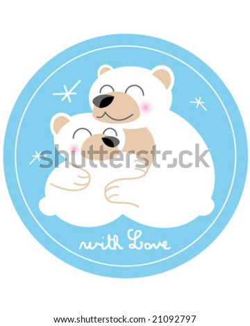 bear family - stock vector