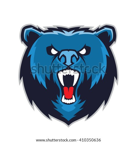 Bear head mascot - stock vector