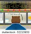 bear market(vector, CMYK) - stock vector