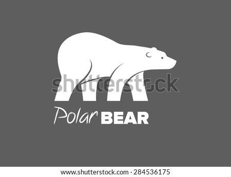 bear polar bear stock vector 284536175 - shutterstock