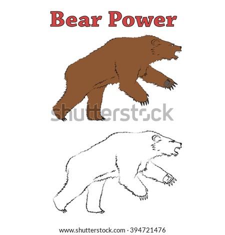 Bear Power - stock vector