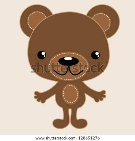 bear / T-shirt graphics / cute cartoon characters / cute graphics for kids / Book illustrations / textile graphic - stock vector