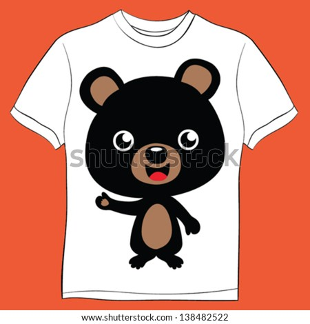 bear/T-shirt graphics/cute cartoon characters/cute graphics for kids/Book illustrations/textile graphic/graphic designs for kindergarten/cartoon character design/fashion graphic/cute wallpaper - stock vector