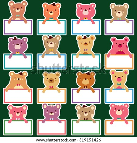 bear text boards set