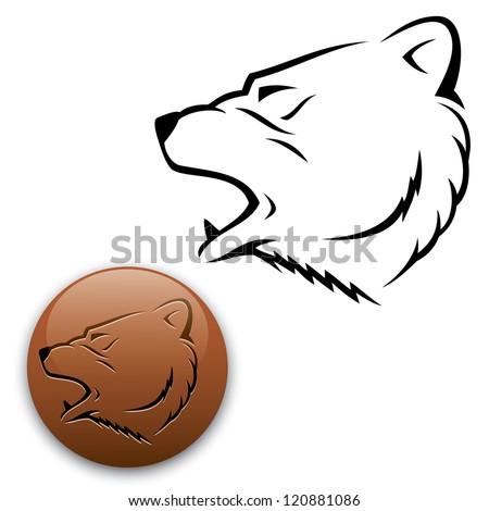 Bear - vector illustration - stock vector