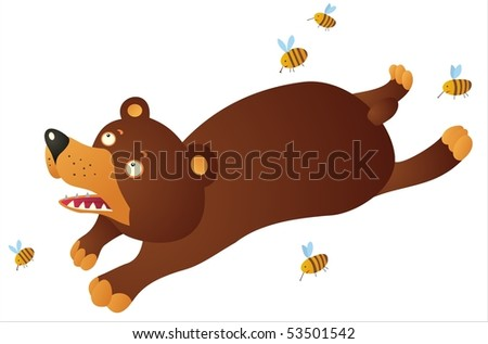Bear with bees