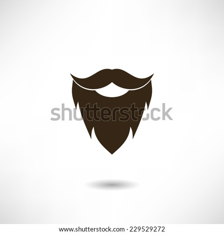 Beard icon - stock vector