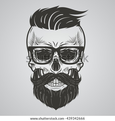 Beard Skull Stock Images, Royalty-Free Images & Vectors ...