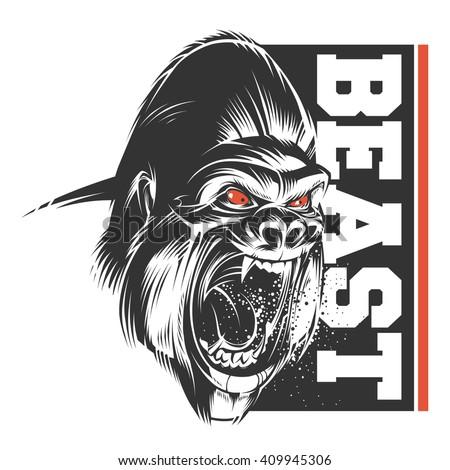 Beast - stock vector