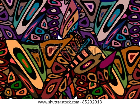 beautiful abstract background, which expresses the beauty of africa - stock vector