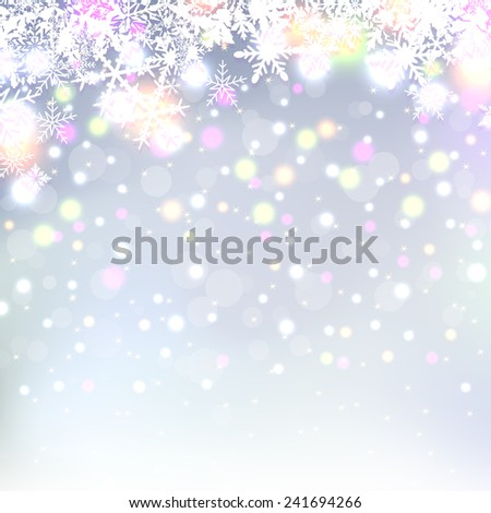 Beautiful abstract snowflake Christmas background  - stock vector