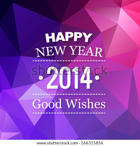 beautiful abstract style happy new year design