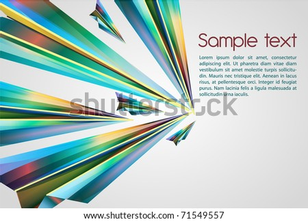Beautiful abstract vector background with bright multicolor lines
