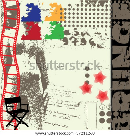 beautiful abstract vector grunge background - stock vector