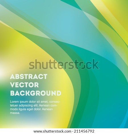 Beautiful abstract vector line and blur background. Editable eps 10 illustration. - stock vector