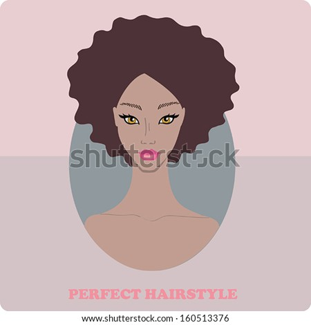 Afro Woman Drawing African American Woman