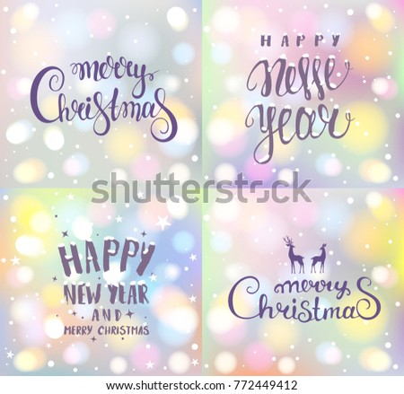 Beautiful Amazing Holidays Calligraphy Inscriptionmerry Christmas ...