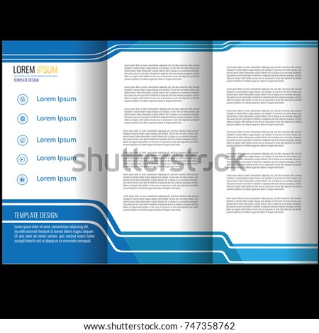 Beautiful Elegant Business Brochure Template Stock Vector - Beautiful brochure templates