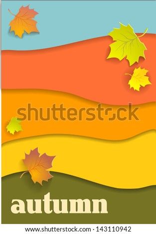 Beautiful autumn background - stock vector
