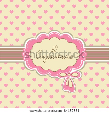 Beautiful baby invitation card background with your text (vector eps 8)