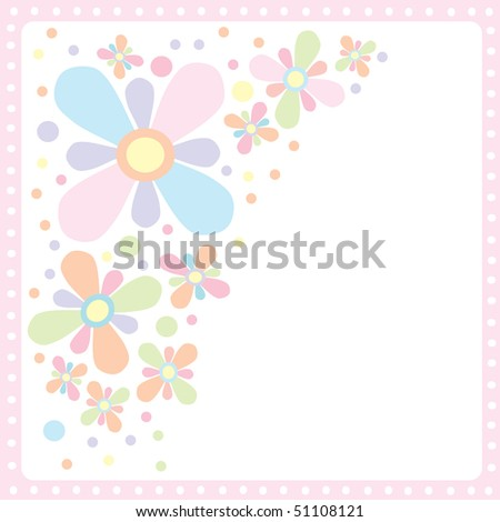 Beautiful baby pastel invitation card - stock vector