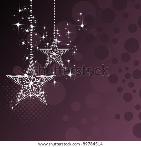 Beautiful Background for Christmas and new year with stars, halftone, circle - stock vector