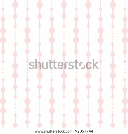Beautiful background of seamless floral and dots pattern - stock vector