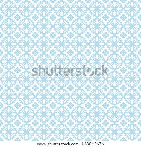 Beautiful background of seamless floral pattern - stock vector