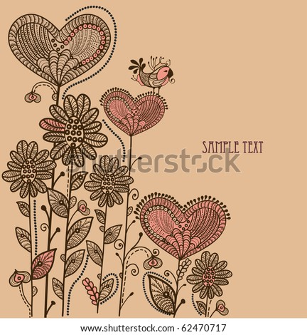 beautiful background to the various elements in vintage style - stock vector