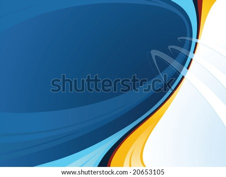 Beautiful background with abstract shapes  - horizontal illustration - stock vector