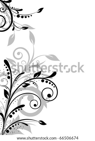 Beautiful background with floral elements and free space for text - stock vector